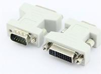 Free shipping 50pcs/lot VGA male to DVI female  adapter DVI-I dual link 24+5  Adapter Converter