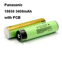2pcs/ lot New Original NCR18650B Rechargeable Li-ion battery 3.7V 3400mAh For Panasonic with PCB Free Shipping
