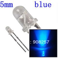 free shipping 1000 pcs Lot 5mm LED 12000MCD Round Super bright Blue Light Bulb Lamp