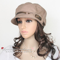 Spring and autumn hat octagonal cap hat women's fashion cap gentlewomen flower strap cap