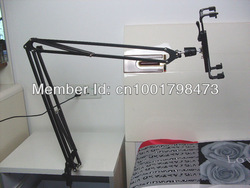 Free shipping-- Foldable high quality metal structure holder/mount/ stand for tablet ipad 1 2 3 4 on bed(China (Mainland))