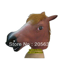 wholesale+free shipping  new arrive +Latex mask gangnam mask style brown horse mask