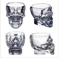 Free shipping Doomed Crystal Skull Shot Glass / Crystal Skull Head Vodka Shot Wine Glass Novelty Cup 237SKG