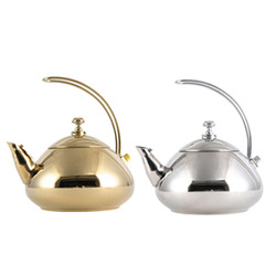 Curved handle teapot kettle stainless steel teapot cool water pot gold silver(China (Mainland))