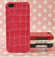 For iphone 5  leather case Crocodile emboss cover wholesales