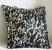 # big round sequin two-colored  cushion pillow cover freeshipping min4pcs/lot wholesale 43cm promotion hot sale