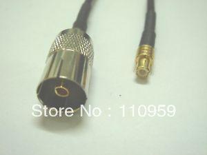 Antenna manufacturer+IEC DVB T TV PAL Female to MCX Male Crimp RG174 Pigtail