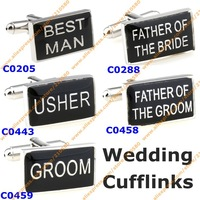 Fashion Wedding Cufflinks For Mens Jewelry  Designer Cufflink Rectangle Best Man Groom French Shirt Accessories Cuff links