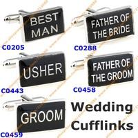 Fashion Wedding Cufflinks For Mens Jewelry  Designer Cufflink Rectangle Best Man Groom French Shirt Accessories Cuff links