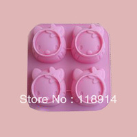 FREE SHIPPING, WHOLESALE HELLO KITTY silicone chocolate mould, cake mould, baking silicone mold <CM-036>