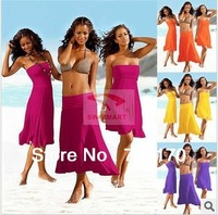 New Arrival for   Beach wear Women's 5pcs/lot mix colors Sarong Dress Sexy cover ups Free shipping