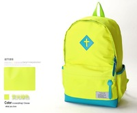 Canvas backpack Candy color Good quality New fashion schoolbag Free shipping