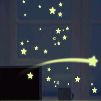 Removable Self-adhesive  Moon, Stars, Cartoon,Luminous wall stickers for children room/bedroom