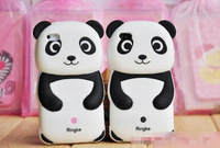 1Pc Korea Lovely Silicone Panda Case  For Iphone 4 4G 4S+Free Shipping By HK Post