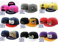 Free shipping-sharp teeth mouth!! Shark Snapback Hats,Stinko adjustable caps,20PCS/LOT