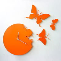 New arrival modern brief butterfly clock hangings lighting