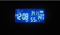 Free shipping , large screen EC60 vehicle electronic clock car outside temperature hygrometer Weather Forecast voltmeter
