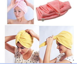 Free Shipping Quick Dry Bath Hat/Microfiber Hair Drying Towel/Lady's Magic Hair Drying Towel 5pcs/lot(China (Mainland))