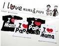 Free shipping, Pure Cotton Children Top Tees, I love Papa Mama Baby T-shirts, Kids short sleeve shirt