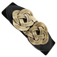 Vintage noble coil chinese knot agings elastic waist , women's decoration wide belt   JP01