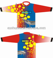 hot sale 100%polyester sublimated fishing jerseys