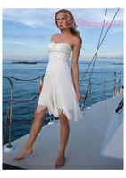 Free Shipping Graceful Beach Informal Summer Designer Destination Short Wedding Dresses