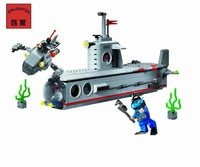 No.816 Submarine Enlighten Building Block Set,3D Construction Brick Toys, Educational Block toy for Children