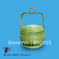 Bamboo basket with lid(Handcrafted)