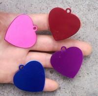 wholesale  fashion  3.5*3.8cm    alumina  heart shaped pet id tag  free shipping