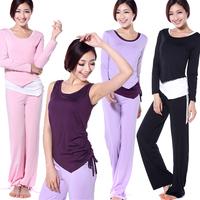 Long-sleeve yoga clothes set yoga dance clothes fitness set piece female Set