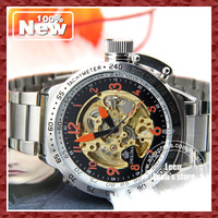 EMS DHL Free Shipping Hot Skeleton Automatic Mechanical Men's Luxury Watch Oversized ORKINA Brand Best Gift 5pcs/lot