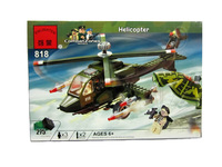No.818 Helicopter Enlighten Building Block Set,3D Construction Brick Toys, Educational Block toy for Children