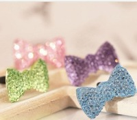 Crystal bow dust plugs for iphone 4 4s earphones dust plug earphones hole tampion