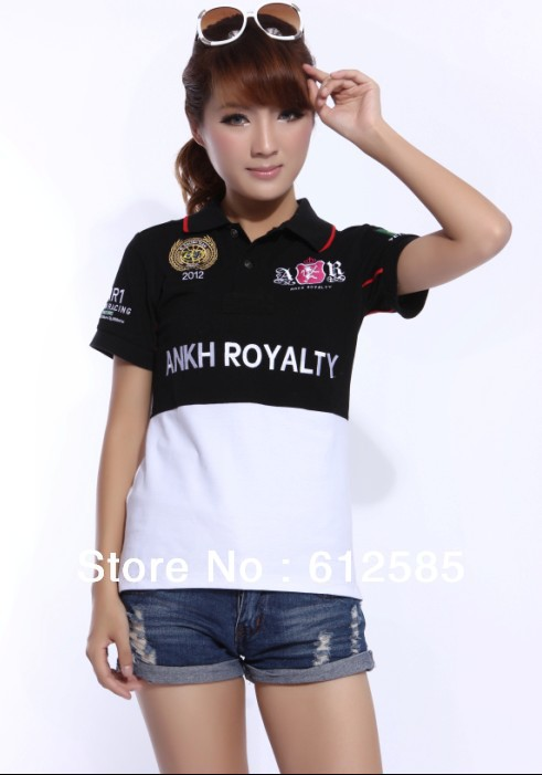 free shipping brand logo ankh royalty t shirts embroidery polo shirts cotton slim 4 color sportswear team brazil number 5 womens(China (Mainland))