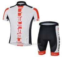 Hot sale! 2013 Castelli short sleeve cycling jerseys and shorts / bike wear / Ciclismo jerseys / bicycle clothe