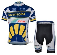 Hot sale! 2013 Vacansleil short sleeve cycling jerseys and shorts / bike wear / Ciclismo jerseys / bicycle clothe