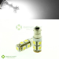 BA9S T4W T4W 24V 9 SMD 5050 2W LED White lights Truck boat bulbs Indicator Free Shipping