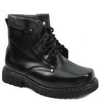 Steel toe cap covering boots male short knee-high single boots genuine leather spring and autumn boots califs tooling male shoes