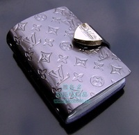 Silver embossed genuine leather credit card bag card case card case document package 26 place card