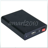 Free ship,New Black Universal 2A Mobile Power Supply USB Battery Charger 18650 Box