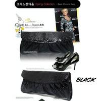 Fashion Women PU Leather Handbags Snake Pattern Clutch wallet Bag Mini Shoulder Bag Portable Evening Bag Black Color