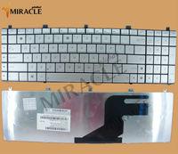 For ASUS N55 keyboard N55SF N55SL N75 N75SF N75SL US layout silver