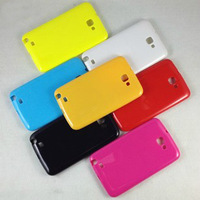TPU Soft Back Protective Candy Color Case Cover for Galaxy Note i9220/N7000 Free shipping 10pcs/Lot