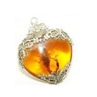 New Fashion Jewelry beautiful natural tibet silver amber scorpion pendant necklace + free chain/ free shipping