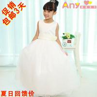 New Snow White !!2014 girl's princess wedding dress female Children's one-piece dress baby girl new year party ball flower dress