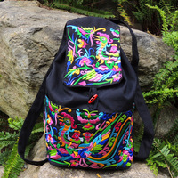 Fashion Newest Design Dongba embroidered unique national trend backpack travel bag Free Shipping