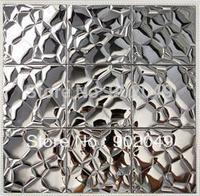Stainless steel metal mosaic mirror tile tv wall tile SH-36