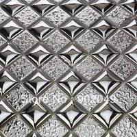Convex surface silver ceramic modern mosaic tile background wall SH-89