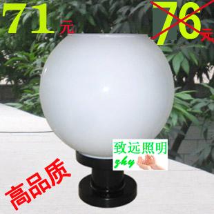 Column head wall light wall light garden lights lawn lamp outdoor lamp post solar lights(China (Mainland))