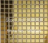 T gold ceramic mosaic tv wall stickers tile floor tiles SH-69